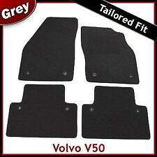 Volvo V50 Tailored Carpet Car Mats GREY (2004 2005 2006 2007 2008 2009 2010 ...)
