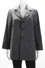 A.F.Vandevorst Womens Three Button Notched Lapel Blazer Gray Wool Size EU 36
