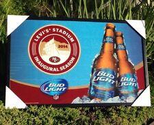 "Bud Light San Francisco 49ers Levi's Stadium NFL Football Beer Bar Mirror ""New"""