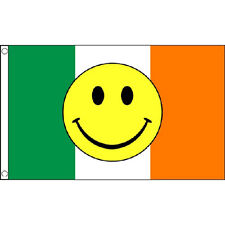 Ireland Smiley Face Flag 5Ft X 3Ft Irish Eurovision Song Contest Banner New