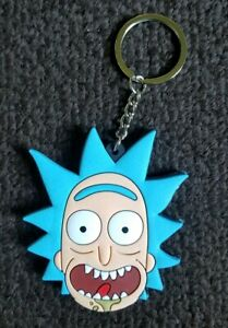Rick and Morty Double Sided PVC Rubber RICK COMIC BOOK COLLECTORS Key chain
