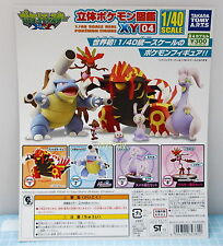 1/40 Real Pokemon Figure XY04, 4pcs - Takara Tomy Gashapon  , h#3