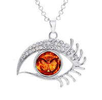 16mm Flying Birds Phoenix Glass Noosa Snap Crystal Evil Eyes Shaped Necklace