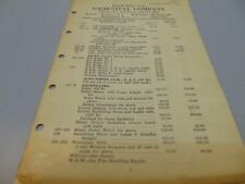 """1927 Gash-Stull Company Retail Price List brochure 23 pages 10 1/2"""" x 7"""" D.C."""
