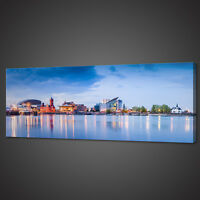 CARDIFF BAY CITYSCAPE CANVAS PRINT PICTURE WALL ART VARIETY OF SIZES