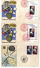 3 Sobres primer dia sellos España 1958 Bruselas Exposicion Filatelica
