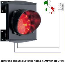 SEMAFORO OMOLOGATO ROSSO MONOLAMPADA 220 V. 70 W INTERCAMBIABILE INCANDESCENZA