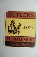 MINT BUTLER WOLVERHAMPTON EXTRA ALL MALT STOUT BREWERY BEER BOTTLE LABEL