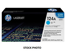 HP 124A Q6001A  LaserJet  Cyan Toner Cartridge Genuine OEM Original