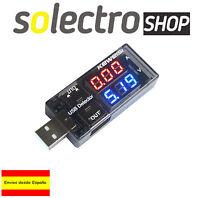 TESTER USB Voltaje Amperios PC Portatiles Voltimetro Amperaje Moviles K0083