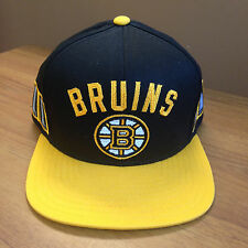 BOSTON BRUINS STANLEY CUP CHAMPIONS CCM SNAPBACK FLAT BRIM HAT NEW NHL NEW