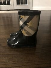 Kids Burberry Ranmoor Rubber Rain Boots in Black Size US 9