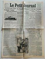 N956 La Une Du Journal Le Petit Journal 9 Mai 1915 lusitania torpillé