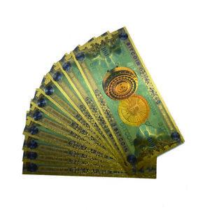 10pcs/lot ONE Hundred Bitcoin Gold Banknote BTC Money Souvenir Collection