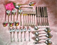 VINTAGE CUTLERY SET RODD SILVER PLATED 32PC SET FOR 6 PEOPLE VGC