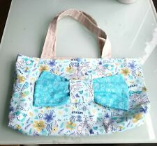 Beautiful Mermaid with bow Handmade Tote Bag, Fully Lined Shopping, Gift