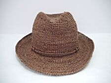 b26fa5f010e38 NEW HELEN KAMINSKI Fai brown crochet raffia fedora hat