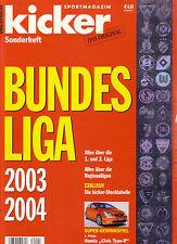 Fußball DFB KICKER SONDERHEFT BUNDESLIGA 2003/04 STECKTABELLE FCB HANSA ROSTOCK