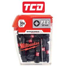 Milwaukee 4932430864 Shockwave PZ2 Bits 25 x 25MM