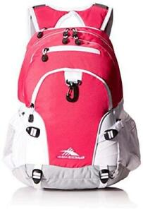 High Sierra Loop Backpack, Pink Punch/White/Ash, Size  PeMs 19 x 13.5 x 8.5-Inch