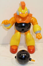 Vintage Mega Man BOMB MAN Action Figure CAPCOM 1995 Bandai COMPLETE Recalled