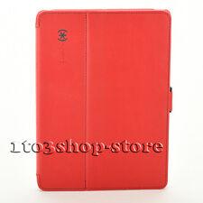 Speck Stylefolio Leather Folio Cover Case for iPad Air Dark Poppy Red/Slate Gray