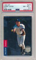 DEREK JETER 1993 SP FOIL #279 RC ROOKIE CARD NEW YORK YANKEES HOF PSA 8.5 NM-MT+
