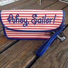 Sourpuss Nautical Purse Clutch Red White Blue Bag Ahoy Sailor Boating Cross Body
