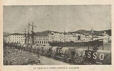 Y0337 Treno di 12 vagoni cisterna di Olio SASSO - Pubblicità d'epoca - Advertis.