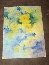"Original Watercolor Peg Humphreys, Abstract Live Floral 11.25""x15.25"""