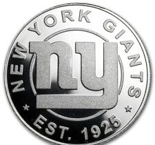 NY GIANTS. .999 OZ SILVER COMMEMORATIVE COIN