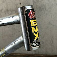 Mongoose Old School BMX Californian Frame + Rivet Head Badge Stuck Post!