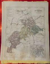 Old Map 1900 France Département Haute Garonne Toulouse Aurignac Grenade Bourg