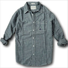 NWT Hollister by Abercrombie Men's Shirt Linen Plaid Chambray Stretch Oxford