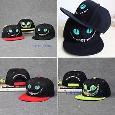 Men Women Cheshire Cat Baseball Cap Sports Hip-hop Peak Hat Sun Visor Snapback