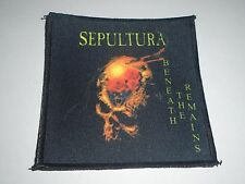 SEPULTURA BENEATH THE REMAINS SUBLIMATED PATCH