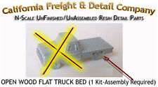 California Freight & Details OPEN Wood FLAT TRUCK Bed Kit N/1:160