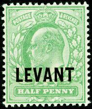 BRITISH LEVANT SGL1, ½d pale yellowish green, VLH MINT.