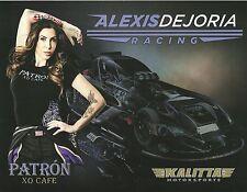 ALEXIS DEJORIA 2014 NHRA Drag Racing PATRON - XO CAFE Dragster POSTCARD HANDOUT