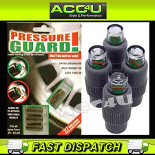 Car Van Motorcycle Bike Tyre Pressure Guard Black Valve Dust Caps Set Of 4