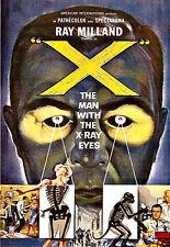 ART Deco l'uomo con gli occhi X RAY Annuncio Poster Artistico A3 stampa
