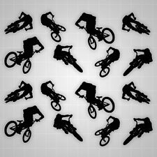 Freesyle BMX Racing, Racing Wall Decals, BMX Stickers 16PCS