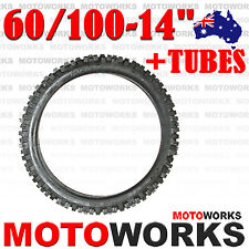 """60/100 - 14"""" Inch Front Knobby Tyre Tire + Tube 125CC PIT PRO Trail Dirt Bike"""
