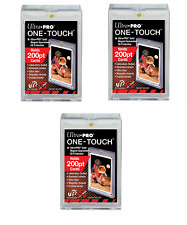 (3-Pack) Ultra Pro One Touch 200pt Super Thick Magnetic Trading Card Holder w UV