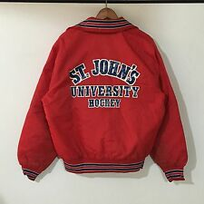 VTG 80s St. John's Hockey Bob Freeland Jacket Mens SZ L Coach Bobby