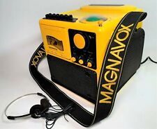 Rare Phillips Magnavox Yellow Le' Cube AM-FM Radio Cassette Boombox w Storage