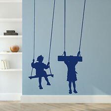 Childrens Swing Wall Stickers! Childs Transfer Graphic Kids Decal Decor Stencil
