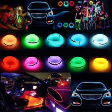LED Atmosphere Glow EL Wire Neon String Strip Light Rope Tube Lamp w/ Controller