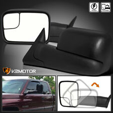 94-97 Dodge Ram 1500 2500 3500 Extend Flip Up Towing POWER Mirrors Left+Right