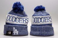 Los Angeles Dodgers MLB Baseball Beanie Cap Knit Winter Pom Hat Fleece lined